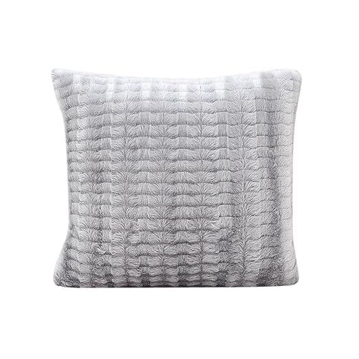 Square Funda de almohada de felpa, friendg color sólido Cafe ...