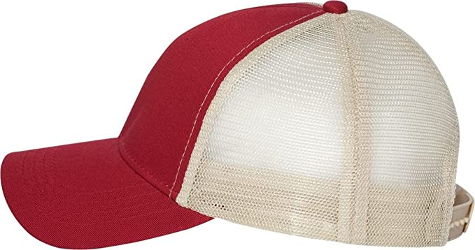 1707e4ce390 Econscious - Trucker Cap - 7070 - Adjustable - Red  Oyster at Amazon ...