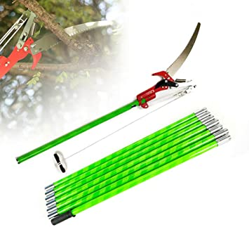 26 Foot Pruner Pole Saw Long Reach Telescopic Branch Tree Cutter Lopper Pruner