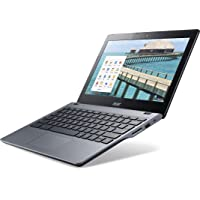 Acer C720 Chromebook クロームブック (Intel Celeron 1.4GHz/2GB/SSD16GB/11.6inch/Chrome OS/Granite Gray) 並行輸入品