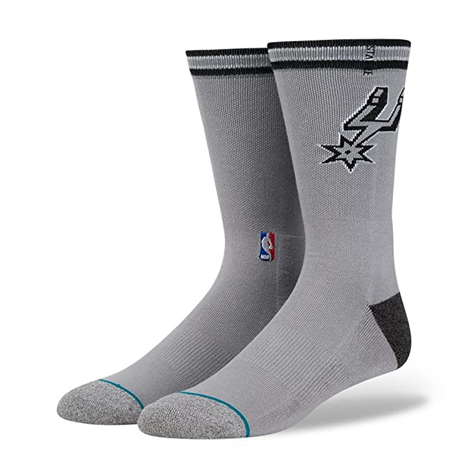 Stance Unisex Spurs Arena Logo Grey Socks MD