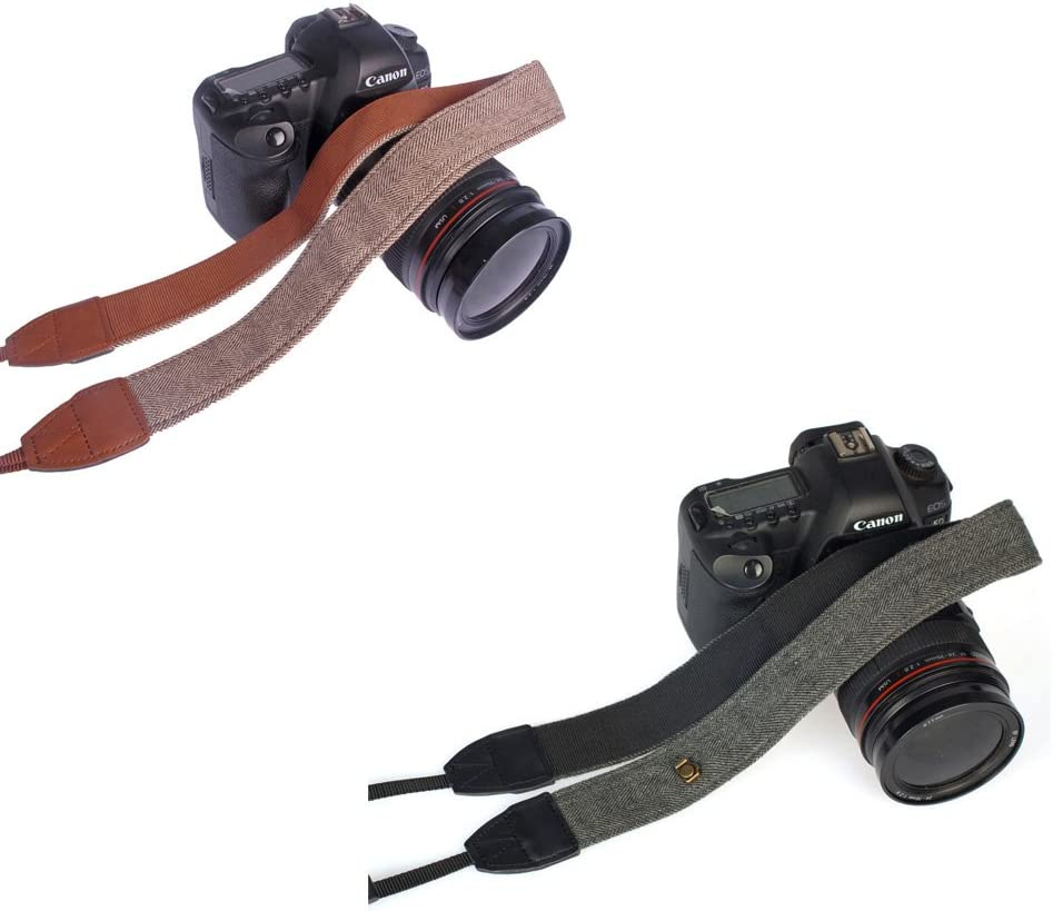 Andoer Camera Shoulder Neck Vintage Strap Belt for Sony Nikon Canon Olympus Panasonic Pentax DSLR SLR