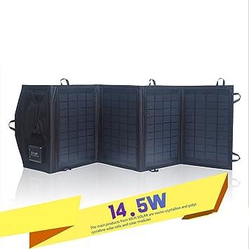 Ultra ligero cargador Panel Solar 14 W/5 V 2.1 A y 2.5 A ...