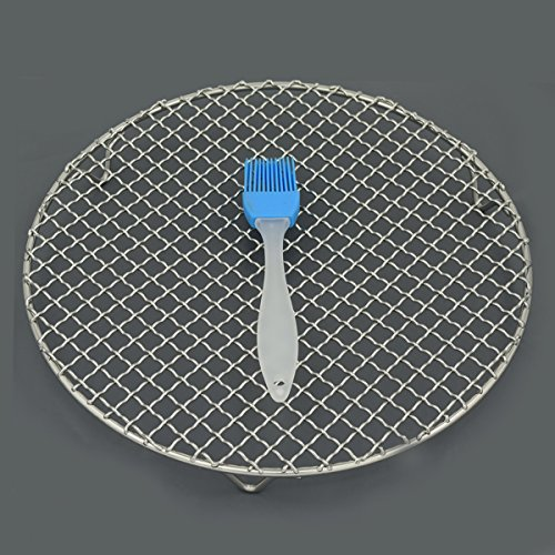 Fivebop Multi-Purpose Stainless Steel Cross Wire Round Steaming Cooling Barbecue Racks/Carbon Baking Net/Grills/Pan Grate with 3 Legs (11 inches) by Fivebop (Image #5)
