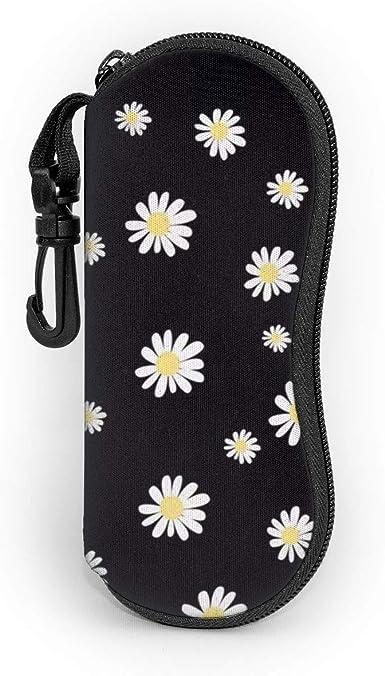 White Daisy - Funda blanda para gafas de sol (con cierre y clip para cinturón), color blanco: Amazon.es: Ropa y accesorios