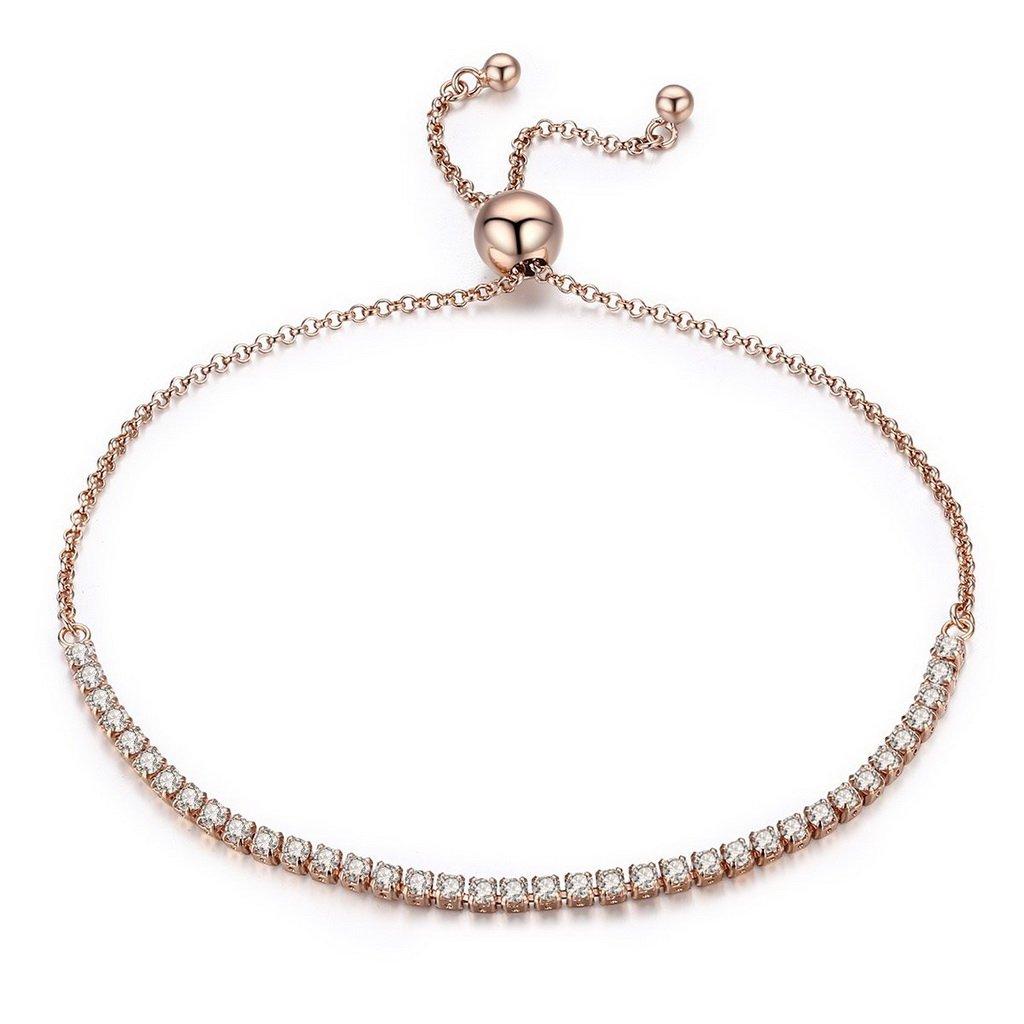 PAHALA 925 Sterling Silver Luminous Strand Tennis Bracelet Bangle PAHALACB045