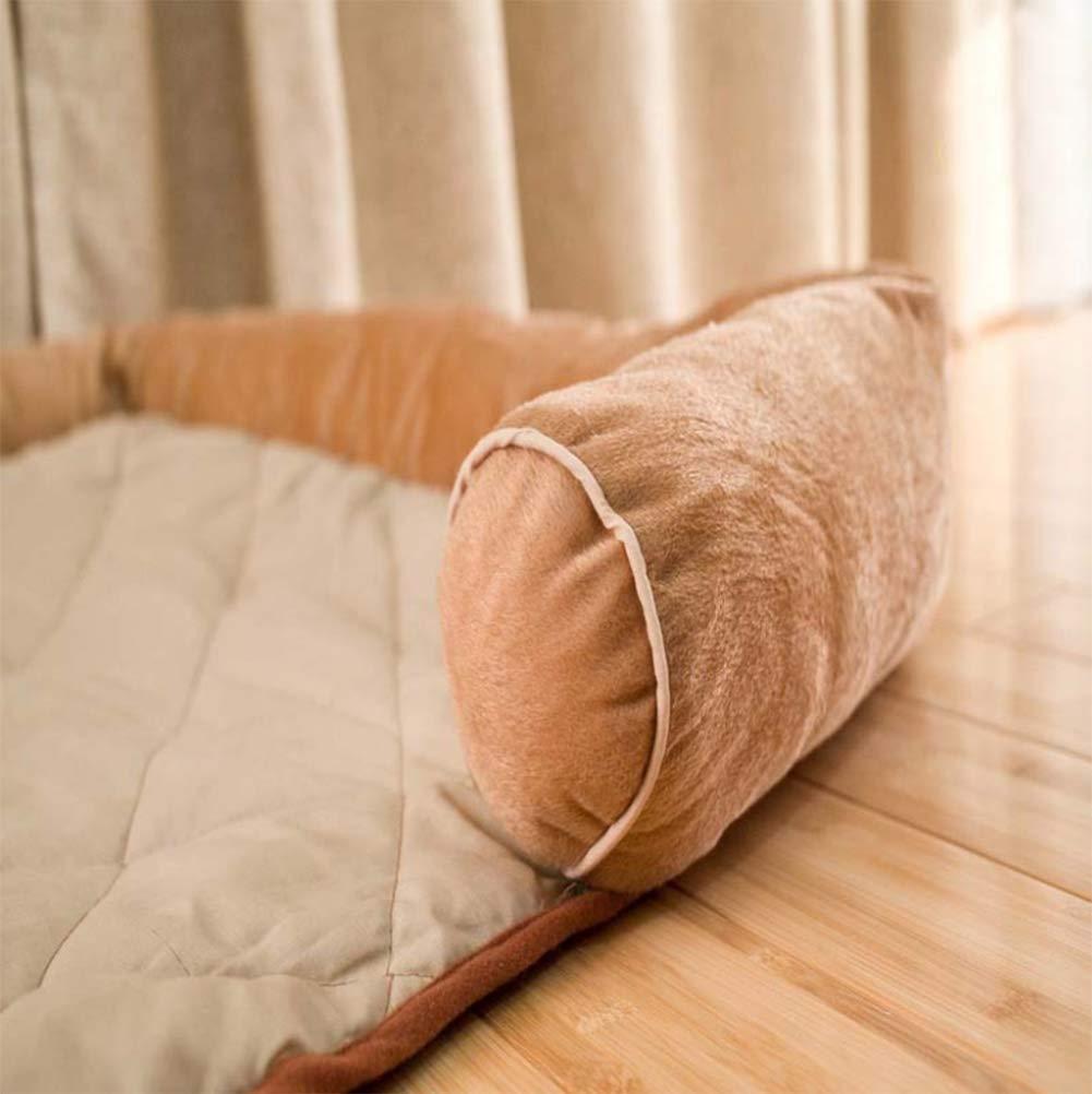 GYYL Suministros para Mascotas Beige Acolchado Pet Nest Nido del Animal doméstico Tamaño del Perro General Kennel Cat Nest,100  70cm
