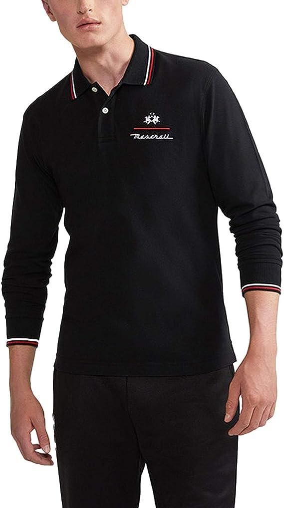 La Martina Hombres Camisa de Polo Oxalis Manga Larga Slim Fit ...