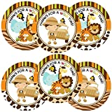 Jungle Safari Thank You Stickers for Boy - Envelope Seal Birthday Party Favor Labels - Set of 30