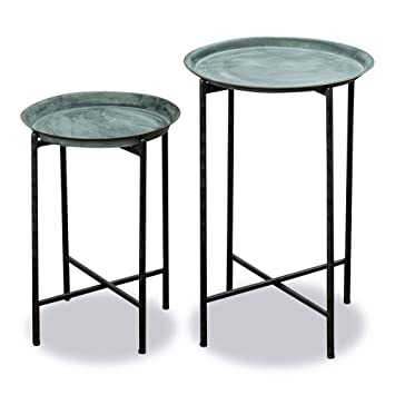 Genial The Farmeru0027s Market Plant Stand Tables, Set Of 2, Round Tops, Slim Line