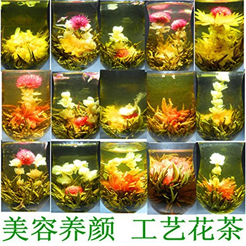 16 Kinds of Handmade Blooming Flower Tea Chinese Ball Blooming Flower Herbal Tea Artistic the Tea for Health Care Products