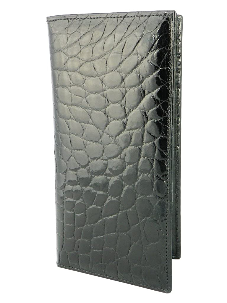 5e4df43d16f2 American Alligator Checkbook Wallet by Charles Underwood - Black at ...