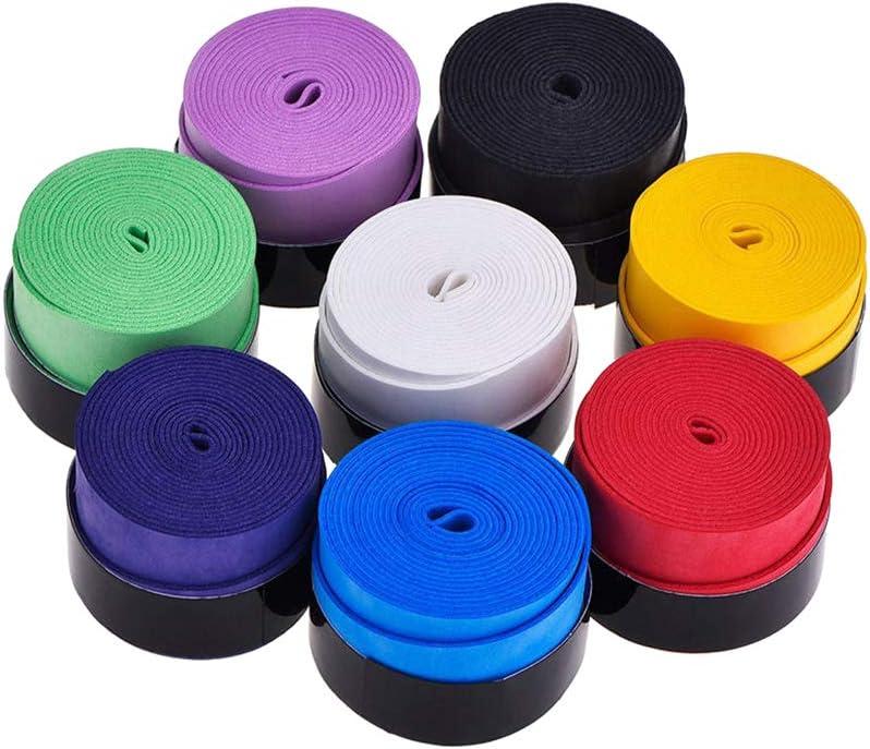 LIOOBO 10pcs Raqueta de Tenis Grip Tape Overgrip Wrap Antideslizante para Squash Racket Racquetball Badminton Pickleball Paddle Mango de Bate de béisbol (Color Aleatorio)