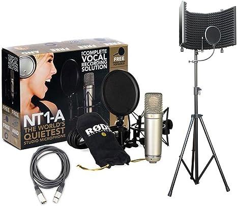 Rode NT1-A Studio Rec, Podcast micrófono de condensador Pack w ...