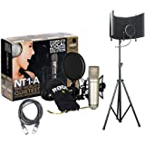 Rode NT1-A Studio Rec, Podcast Condenser Mic Pack w/Isolation Shield & XLR Cable