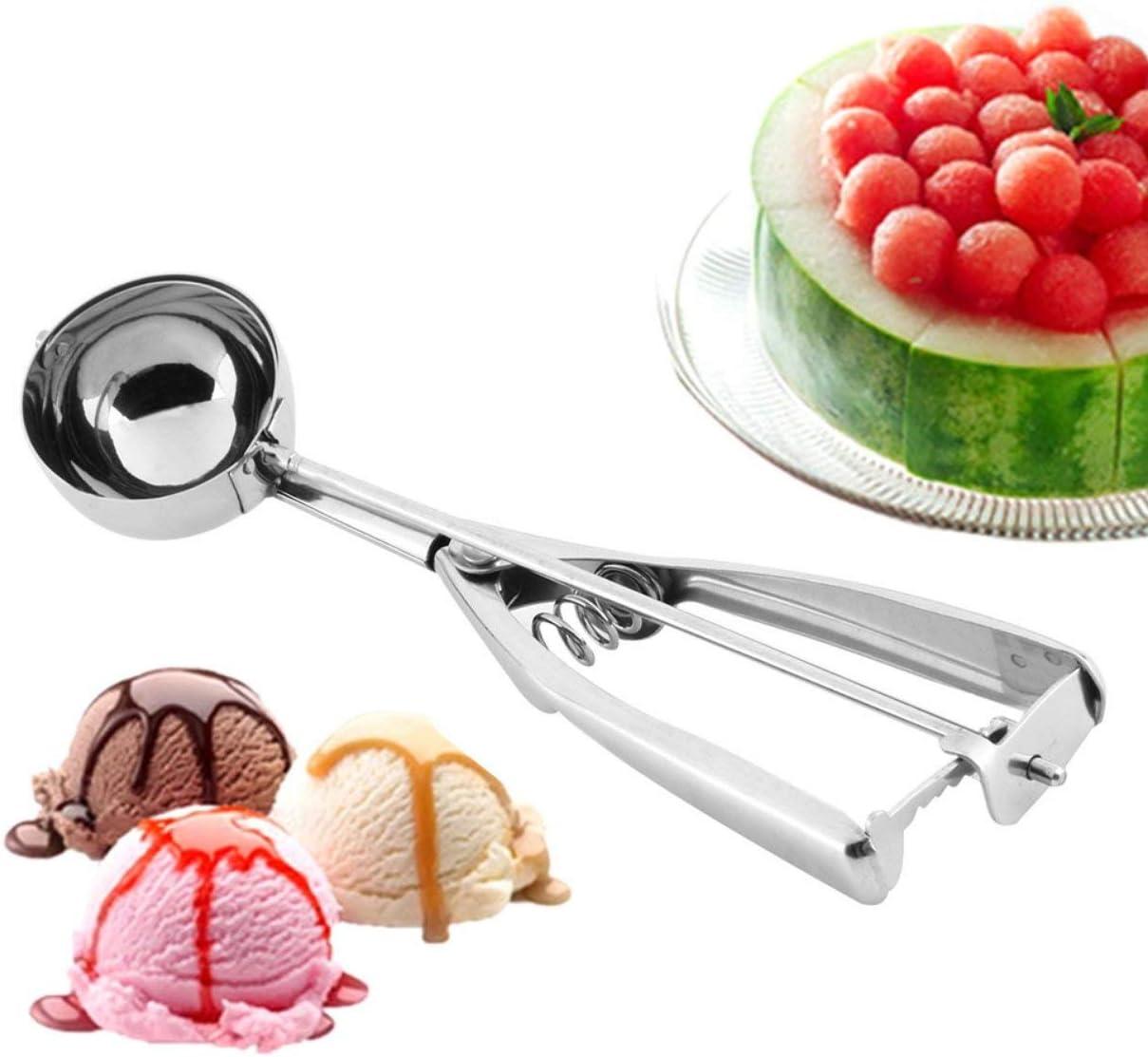 Ice Cream en acier inoxydable Scoop cuill/ère Biscuits P/âte Disher Mash Muffin cuill/ère Presse-pur/ée poign/ée utile Outils de cuisine