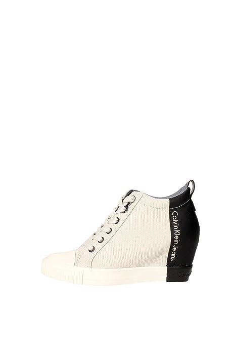 Calvin Klein Jeans - Zapatillas para Mujer Gris Gris: Amazon.es: Zapatos y complementos