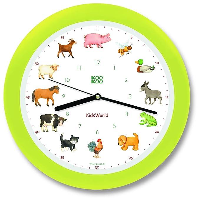 4 opinioni per KOOKOO KidsWorld Neon orologio da parete con suoni degli animali della fattoria