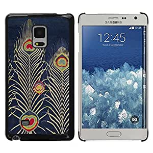 Paccase / SLIM PC / Aliminium Casa Carcasa Funda Case Cover para - Navy Bluer Feather Art Drawing - Samsung Galaxy Mega 5.8 9150 9152