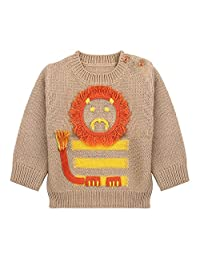 mimixiong Baby Boys Pullover Knit Sweater Newborn Cute Cartoon Lion Tops