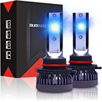 Super Bright 9005 H11 LED Headlight Bulbs Hi//Lo Beam 40W 4000LM 8000K Ice Blue