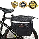 Meanhoo Bicycle Carrier Rack Pannier Bag for Cycling ;Quick Rlease Rear Seat Carrier Bag Double Mounting Pannier Bag with Multi -Compartments