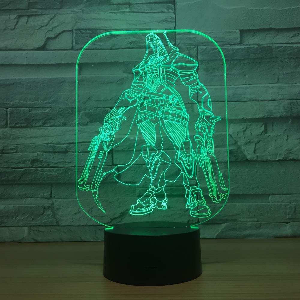 Game Token HOTOOK Night Light Baby 3D Mood Lamp RGB Changeable Lighting Base Acrylic Crafts for Birthday Holiday Christmas Party Decoration