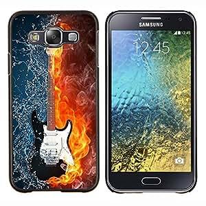 For Samsung Galaxy E5 E500 Case , El agua y el fuego de la guitarra- Diseño Patrón Teléfono Caso Cubierta Case Bumper Duro Protección Case Cover Funda