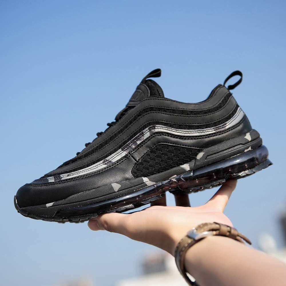 TSIODFO Men air Cushion mesh Breathable Sport Running Tennis Walking Shoes