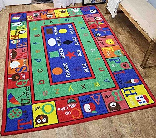5x7 Kids Boys Children Toddler Playroom Rug Nursery Room Rug Bedroom Rug Fun Colorful ( ABC )
