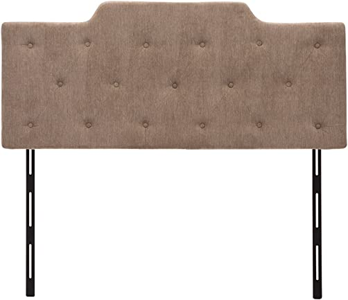 Haobo Queen Full Button Tufted Fabric Upholstered Headboards with Height Adjustments, Luminata Gray