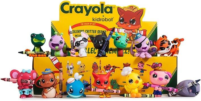 Kidrobot x Crayola COLORING CRITTERS Mini Series HOT MAGENTA FARMER PIG Figure