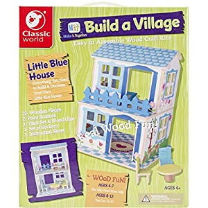 Classic Build A Village Blue House Building Kit by Classic