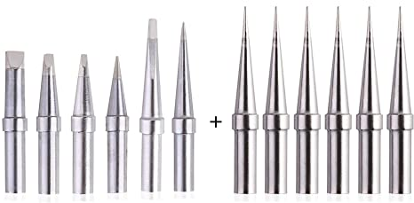 Solder Tips 6pcs for Weller ET Soldering Iron Tips for WES51//50,WESD51,PES51 //