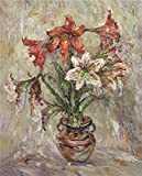 Oil Painting 'Hippeastrum', 30 x 37 inch / 76 x 94 cm , on High Definition HD canvas prints is for Gifts And Game Room, Living Room And Study Room Decoration, onreviews