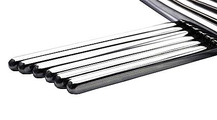 Palillos Chinos Metal Palillos de Acero Inoxidable 10 Pares