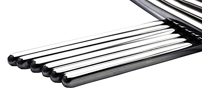 Amazon.com: makidar 10 pares de palillos de acero inoxidable ...