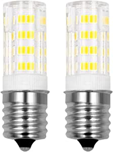 E17 led Light Bulbs for Microwave Oven Over Stove Appliance 3 Watt 30 W Halogen Bulbs Equivalent Warm White 3000K Intermediate Base 110V 120V Non-Dimmable for Ceiling Fan Light Fixture Pack of 2