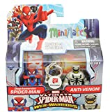 Minimates DEEP-IMMERSION SPIDER-MAN & ANTI-VENOM Walgreens Exclusive Ultimate Spider-Man Web-Warriors 2-pack