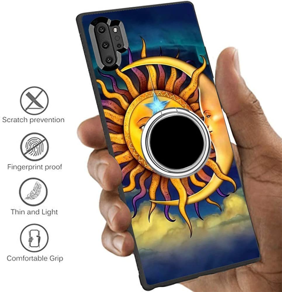 Tree of Life Samsung Galaxy Note 10 Plus Case with Grip Ring Holder Multi-function Cover Slim Soft and Hard Tire Shockproof Protective Phone Case Slim Hybrid Shockproof Case for Samsung Galaxy Note 10