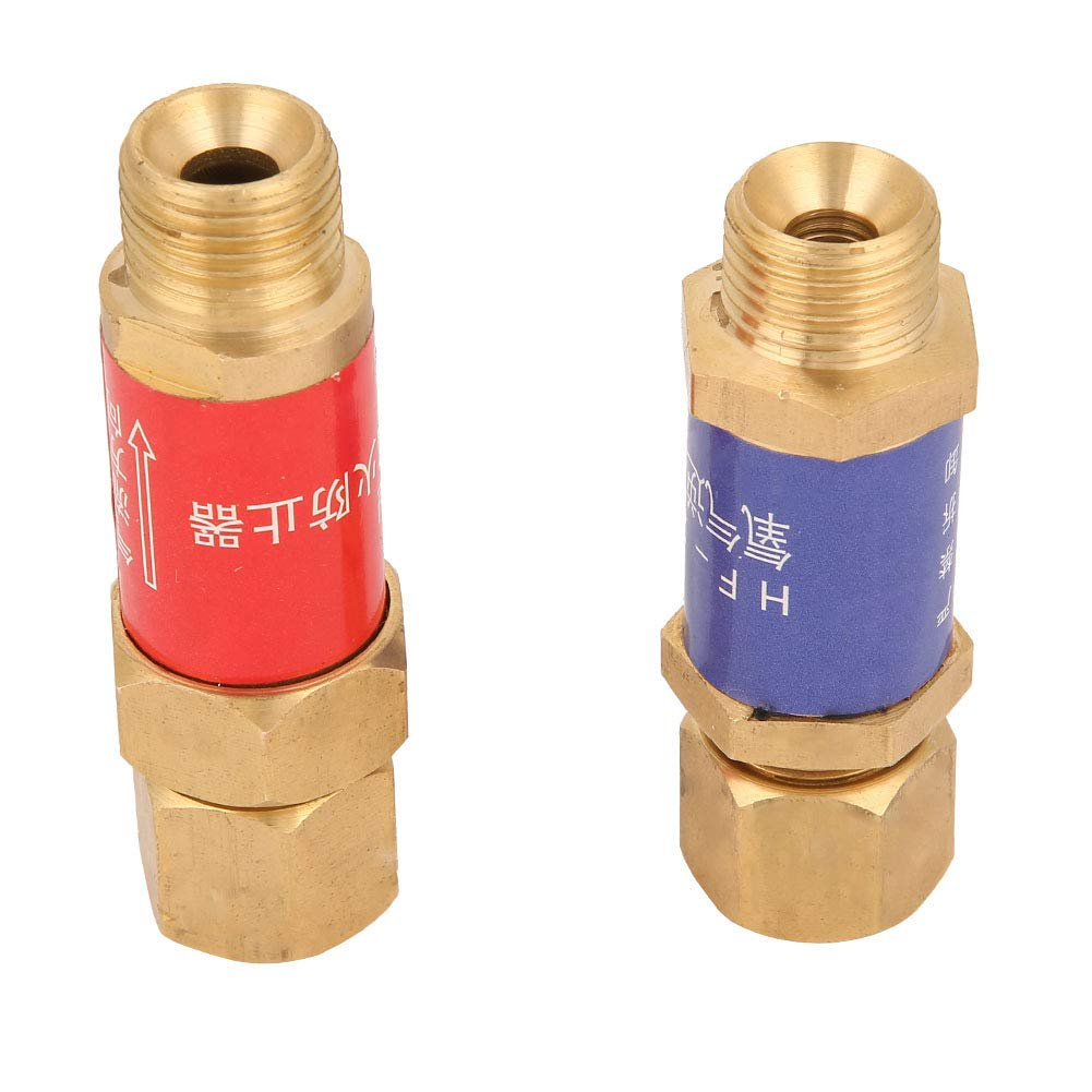 1 coppia di valvole di ritegno per valvola di non ritorno dellacetilene dellossigeno M16 1.5 HF-2