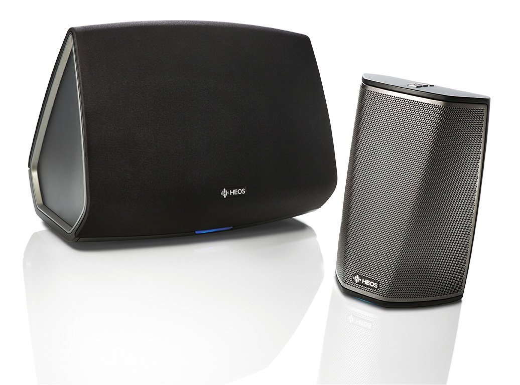 Denon HEOS 1 and HEOS 5 Wireless Multiroom Digital Music System, Black (HEOSand5BK)