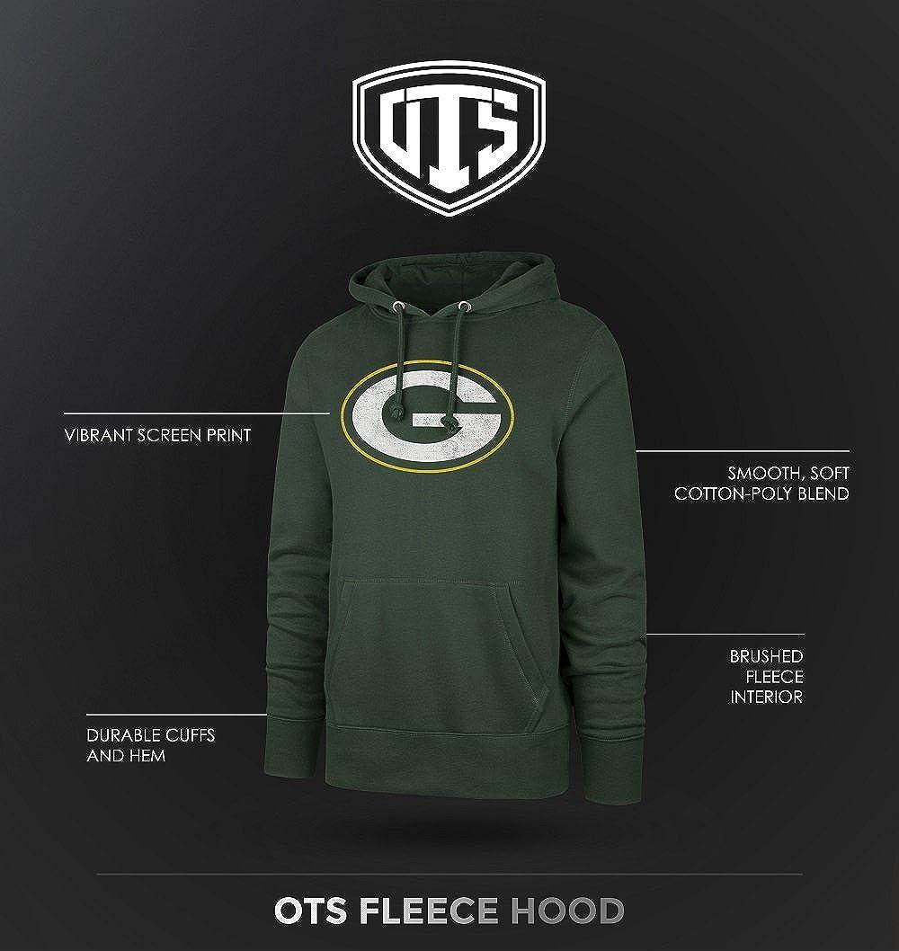Medium Distressed Iced OTS NFL Denver Broncos Mens Fleece Hoodie