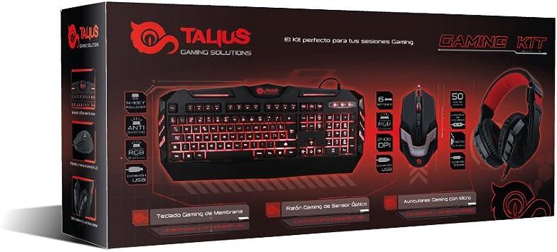 Combo Gaming Talius (Teclado, ratón y Auriculares)