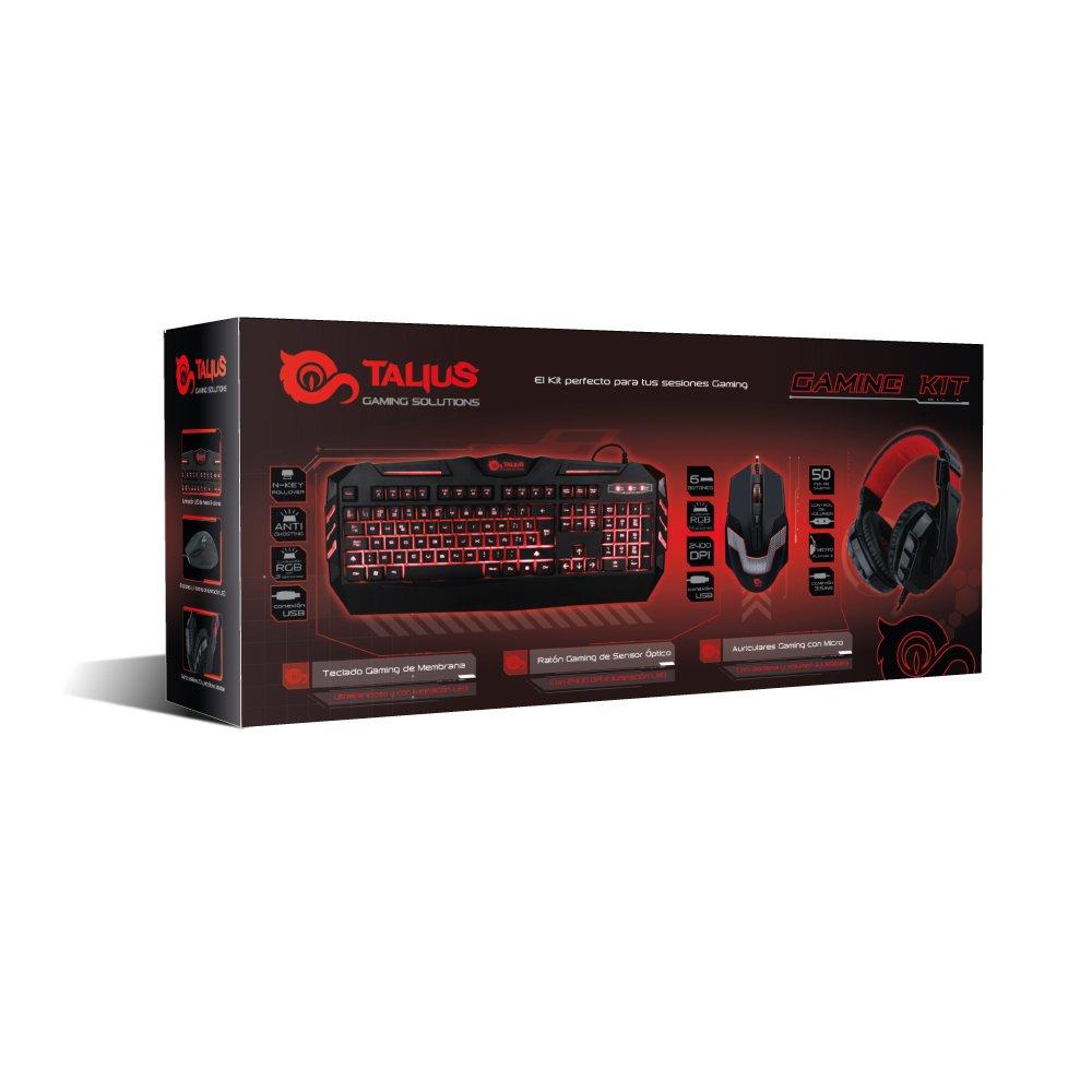 TALIUS Combo Gaming (Teclado, ratón y Auriculares): Amazon.es: Informática