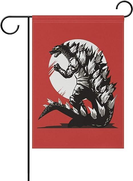 DEZIRO® Bandera de Dibujo de Godzilla para Jardín, Doble Cara ...