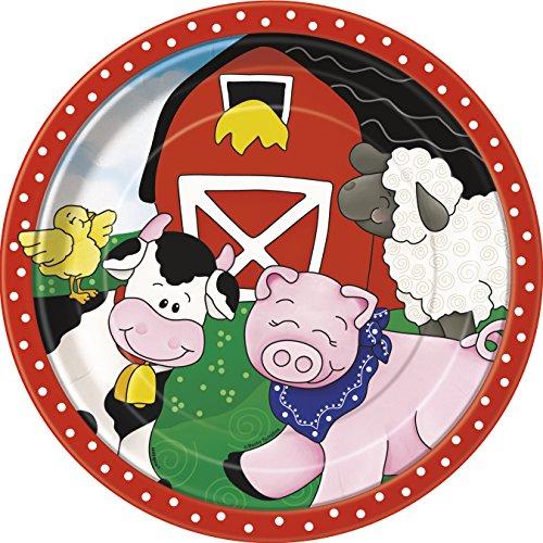 Farm Party Dinner Plates, 8ct (Halloween Kid Dinner Ideas)