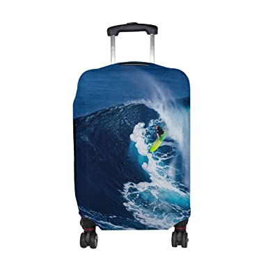 LEISISI Luggage protection cover Travel Suitcase covers Surfing Print Design XL 31-32 inch