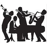 Beistle 52178 Great 20 's Jazz Band Insta-Mural,12.7 x 15.24 cm 派对装饰,黑色/白色