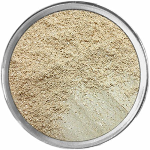Vanilla Sugar Loose Powder Mineral Shimmer Multi Use Eyes Face Color Makeup Bare Earth Pigment Minerals Make Up Cosmetics By MAD Minerals Cruelty Free - 10 Gram Sized Sifter Jar -